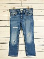 Aero Aeropostale Juniors Jeans Size 9 / 10  X 23 Cropped Distressed Stretch