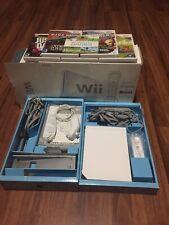 Nintendo Wii White Console Bundle with Games Original Box Instruction Books