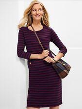 NWT TALBOTS WOMEN PLUS 100%COTTON SHORT SLEEVE NAVY MULTI STRIPE DRESS SIZE 3X