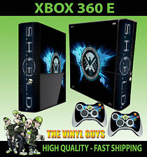 XBOX 360 E S.H.I.E.L.D SHIELD LOGO AGENTS MARVEL STICKER SKIN & 2 PAD SKIN