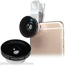 LIEQI Phone 0.4X Fish Eye Wide Macro Camera Lens for iOS Samsung Android Phone