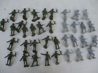 French World War 2 Troops Lot Marx Recast Toy Soldier Army Men Playset Military