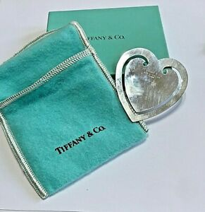 Vintage Silver Tiffany Co Heart Shape Bookmark 925