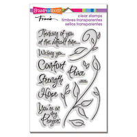Encouraging Words Bereavement Clear Acrylic Stamp Set by Stampendous SSC134 NEW!