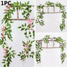 Garland Fake Ivy Vine Artificial Flowers Wisteria Plant Foliage Trailing Flower