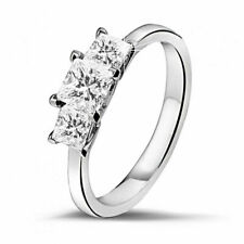 1.50 Ct Princess Cut Diamond Solitaire Engagement Ring Solid 14k White Gold