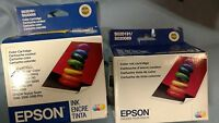 Lot of 2 Genuine EPSON S020191 / S020089 Color Ink Cartridge Exp 10/2008 08/2016