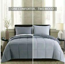 Homelike Moment Lightweight Comforter Set Queen Gray All Season Down Alternative