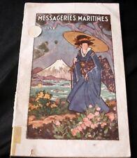 Cie Des Messageries Maritimes Handbook 1932 Guide