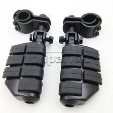 """1-1/4"""" Highway Foot Pegs Footrest Crash Bar For Harley Touring Motorcycle Black"""