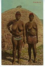 Africa South Africa 1900s Zulu Beauties Original Photo Card