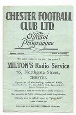 More details for  chester v rotherham united 1947/48