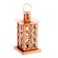 Metal Copper Moroccan Lantern Candle Holder - Tea Light Candle Holder