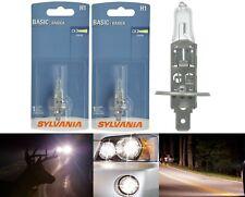 Sylvania Basic H1 55W Two Bulbs Halogen Fog Light Replacement Plug Play Lamp OE