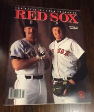 1988 Boston Red Sox Official Yearbook Signed Wade Boggs Hof
