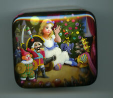 Russian Lacquer box  Fedoskino.Nutcracker. Hand Painted.