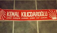 "BNWOT RED & WHITE ISTANBUL KEMAL KILCDAROGLU CHP SCARF 56"" 142cm LONG"