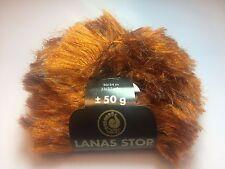 500 gramm Lanas Stop LYNX Farbe 709 Luxuswolle' Garn Wolle #Luchs Pelz NEU