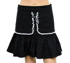 Isabel Marant Women's Style Shad Black Cotton A-Line Short Skirt Size 38