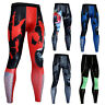 Men's Compression Pants Sports Gym Long Tights Wicking Dri-fit Tight fit Printed