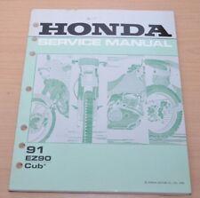 Honda 91 EZ90L Cub Motor Bremsen Anlasser Elektrik Wartung Werkstatthandbuch