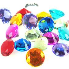 Acrylic Crystal Diamond Table Confetti, 3/4-Inch, 2 LB. Bag, Assorted Color