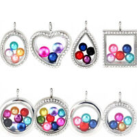 Beads Cage Glass Locket Pearl Cage Floating Pendant Gift Charms