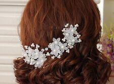 Haarnadeln Blumen Kunstperlen Hochzeit Strass Blüte Braut Haarschmuck Kommunion