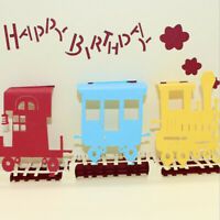 3D Hollow Train Shape Greeting Card Postcards with Envelope Birthday Cards D