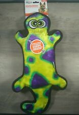 Outward Hound Stuffingless Gecko Toss and Tug  Dog Toy with Invincible Squeaker