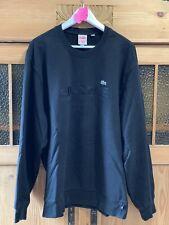 Supreme Lacoste Crewneck Pullover Sweater SS18 Black Schwarz XL