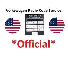 RNS510 Radio Code RNS315 Navigation RNS 510 MFD Radio Unlock Decode Pin Service