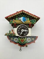 Vintage Miniature German Cuckoo Clock Chalet w/ Bluebird