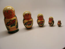 Handmade Nesting Doll 5 (Five) Pieces Players Nhl Team Minnesota Wild