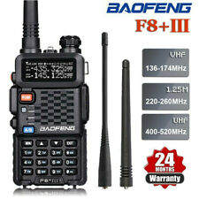 BAOFENG BF-F8+ III Tri-Band UHF/VHF Two Way FM Radio 5W Walkie Talkie Long Range