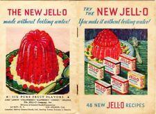 "Vintage Jello Dessert Booklet 1932,  ""Try The NEW JELL-O""  great colored images"