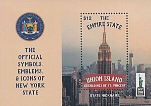 👉 ST.VINCENT /UNION IS. = EMPIRE STATE BUILDING = USA NYC S/S MNH ARCHITECTURE