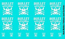 Scale Custom Waterslide Decals: Bullet Club Logos White (OPAQUE)