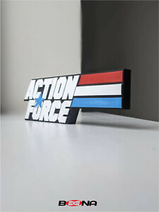 Decorative ACTION FORCE self standing logo display