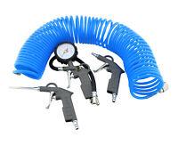 4 teiliges Druckluft Set Kompressor Zubehör Druckluftset Reifenfüller Schlauch