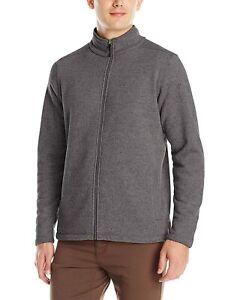 New White Sierra Mens Murphys Zip Fleece Sweater Charcoal Gray Sz Medium NWT