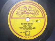 "LONDON PIANO ACCORDEON BAND FT 8532 INDIA INDIAN RARE 78 RPM RECORD 10"" VG+"