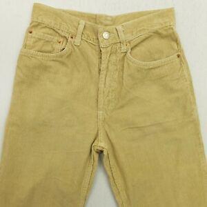 Levi's 501 Womens Corduroy Jeans W26 L30 Beige Regular Straight