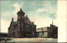 Niles OH City Hall Fire Station c1905 Postcard