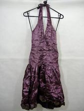 Halter Purple Dress Crushed Taffeta Metallic 2 Nicole Miller Prom Wedding Formal