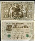 Germany 1910 1,000 Marks   VF-XF   Pick 45.b   Green Seal  Free Shipping  DS67
