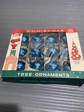 12 x Vintage Fantasia Brand Glass Christmas Ornament Lot- Original Box-
