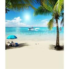 Blue Sky Beach Summer Holiday Backdrop Vinyl Photography Background Prop 3X5FT