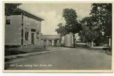 Main Street, Looking East Brome, Quebec Canada  Vintage  Postcard