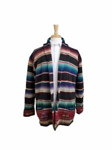 POLO RALPH LAUREN Vintage Aztec Navajo Hand Knit Wool Cardigan Sweater Size M
